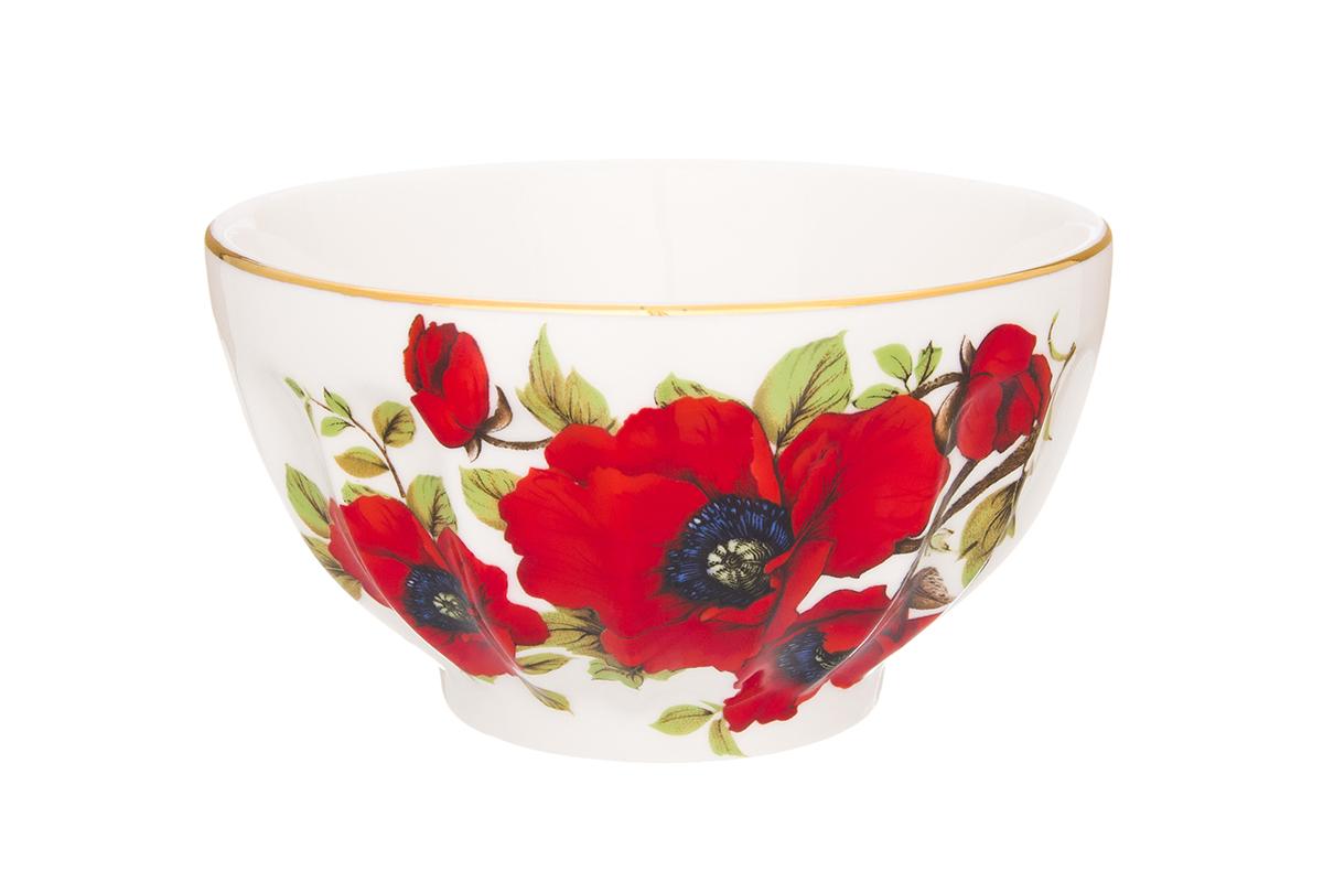Салатник Elan Gallery Маки, 500 мл54 009312Великолепныйсалатник Elan Gallery Маки, изготовленный из высококачественного фарфора, прекрасно подойдет для подачи различных блюд: закусок, салатов или фруктов. Такой салатник украсит ваш праздничный или обеденный стол, а оригинальное исполнение понравится любой хозяйке. Не рекомендуется применять абразивные моющие средства. Не использовать в микроволновой печи.Диаметр салатника (по верхнему краю): 13 см.Высота салатника: 7 см.