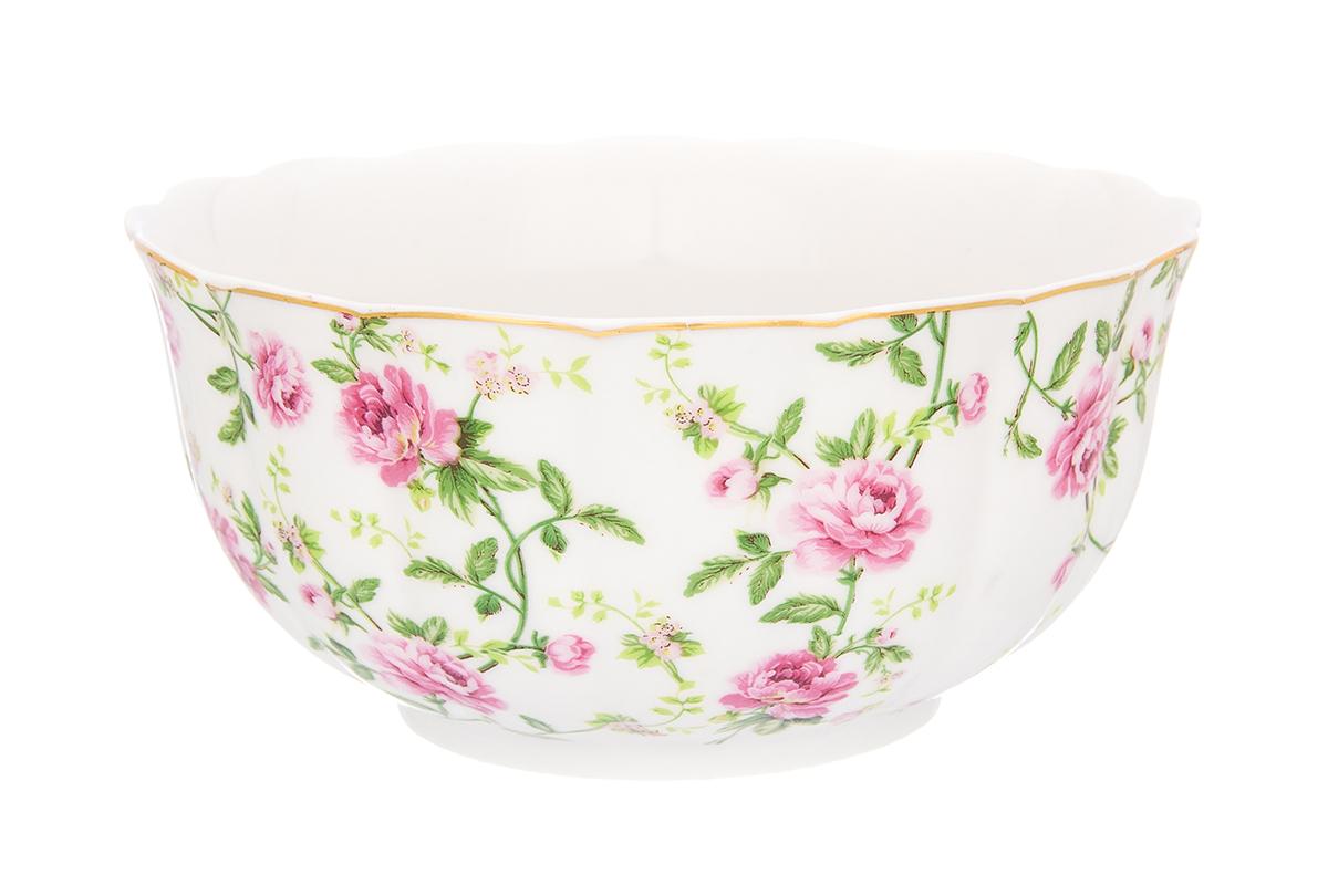 Салатник Elan Gallery Плетистая роза, 850 мл115510Великолепныйсалатник Elan Gallery Плетистая роза, изготовленный из высококачественного фарфора, прекрасно подойдет для подачи различных блюд: закусок, салатов или фруктов. Такой салатник украсит ваш праздничный или обеденный стол, а оригинальное исполнение понравится любой хозяйке. Не рекомендуется применять абразивные моющие средства. Не использовать в микроволновой печи.Диаметр салатника (по верхнему краю): 16 см.Высота салатника: 8,5 см.