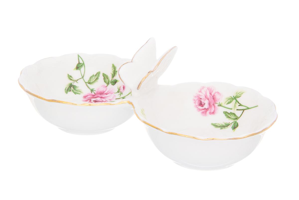 Набор для специй Elan Gallery Плетистая роза, 2 секцииVT-1520(SR)Емкость для специй Плетистая роза использовуется как солонка и как соусница. Миниатюрная, изящная украсит Вашу сервировку в повседневной жизни. Соберите всю коллекцию предметов сервировки Плетистая роза и Ваши гости будут в восторге! Изделие имеет подарочную упаковку, поэтому станет желанным подарком для Ваших близких!Размер набора: 15,5 х 7,3 х 5 см. Объем секции: 50 мл.