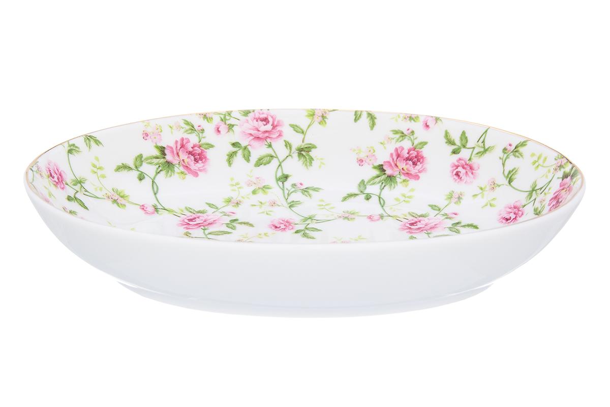 Блюдо Elan Gallery Плетистая роза, 22 х 16 х 4 смVT-1520(SR)Блюдо для слоеных салатов - это прекрасный вариант сервировки. Размер этого блюда подходит и для подачи горячего, и для приготовления и хранения слоеных салатов. Соберите всю коллекцию предметов сервировки Плетистая роза и Ваши гости будут в восторге! Изделие имеет подарочную упаковку, поэтому станет желанным подарком для Ваших близких! Объем блюда: 600 мл.