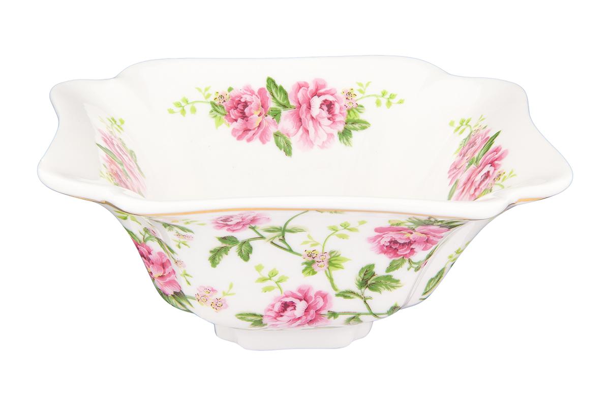 Салатник Elan Gallery Плетистая роза, 250 мл115510Великолепный салатник Плетистая роза объемом 250 мл идеален для сервировки салатов. Компактный вместительный салатник станет украшением для Ваших блюд. Соберите всю коллекцию предметов для сервировки и Ваши гости будут в восторге! Изделие имеет подарочную упаковку, идеальный выбор для подарка.