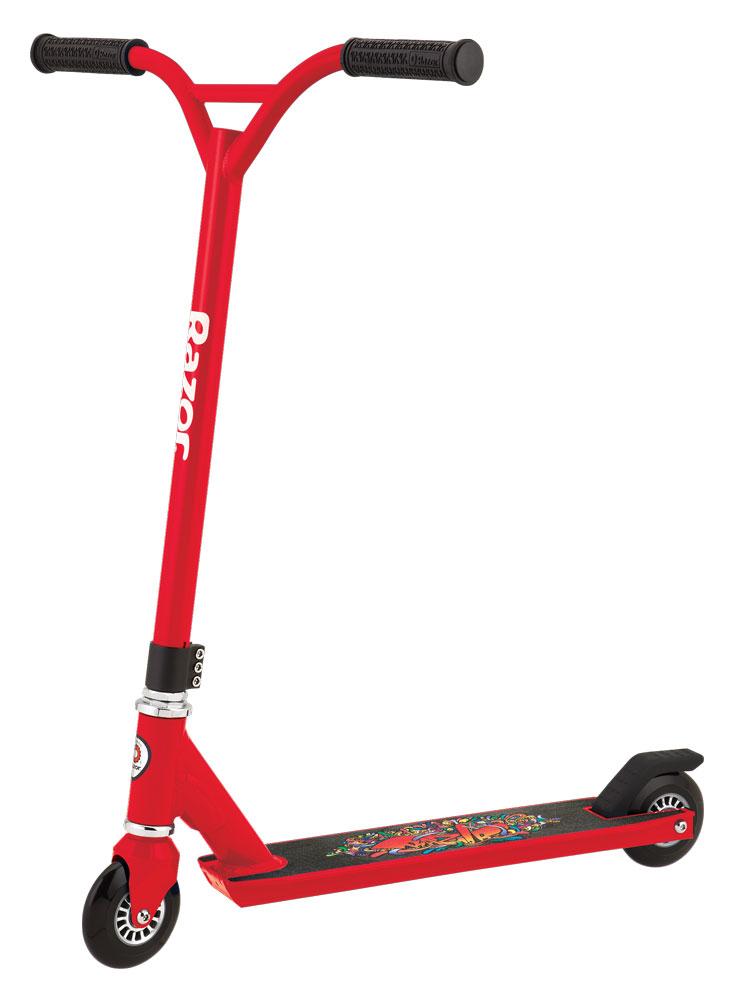 Самокат трюковой Razor Beast, цвет: красный, черный самокат детский razor a125 german standart цвет черный