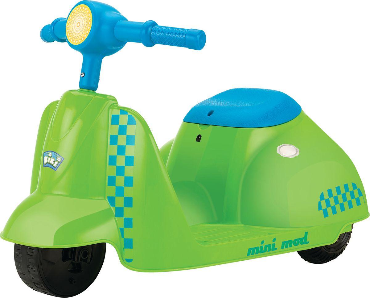 Электросамокат детский Razor Mini Mod, цвет: зеленый, голубой7292Стильный электрический самокат Razor Mini Mod, выполненный из пластика в виде скутера, предназначен для самых маленьких райдеров. Яркий, красивый, надежный электроскутер подарит вашему ребенку массу эмоций, улыбок и радости! Особенности:- Запас хода на 40 минут.- Адаптированный мотор для маленьких райдеров.- АКБ свинцово-кислотные на 6 В.- Педаль активации мотора.- Помогает стимулировать и развивать координацию.Возраст: от 3 лет.Для детей ростом: от 80 до 120 см.Максимальная скорость: 3,5 км/час.Максимальная нагрузка: 20 кг.Ширина руля: 37 см.Размер изделия (ДхШ): 63 х 38 см.