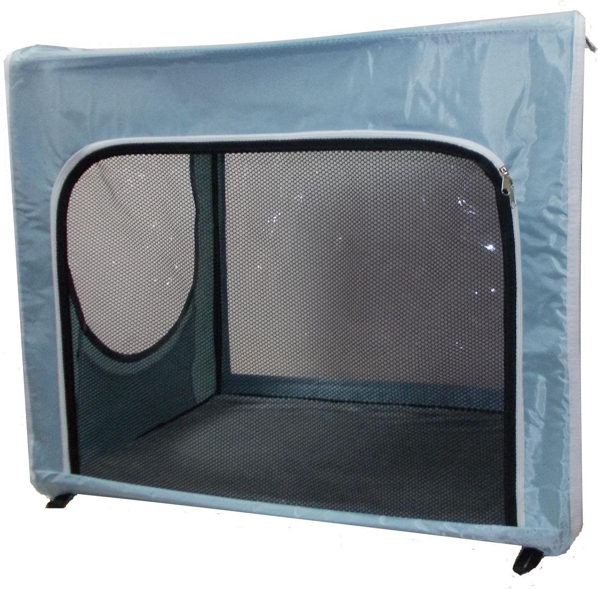 Клетка для животных  Заря-Плюс , выставочная, цвет: голубой, 75 х 60 х 50 см. КТВ2/1 - Клетки, вольеры, будки