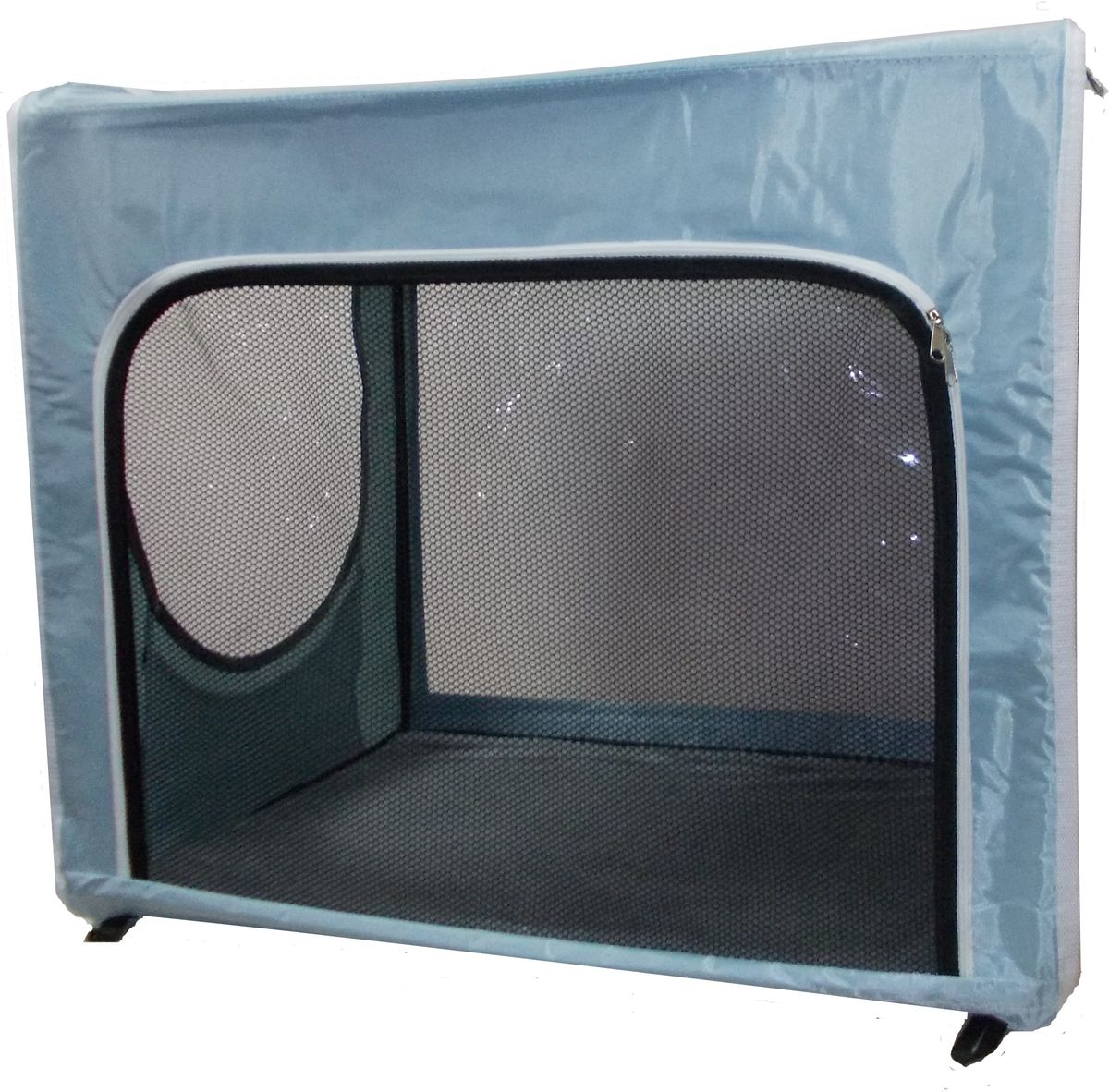 Клетка для животных  Заря-Плюс , выставочная, цвет: голубой, 75 х 60 х 50 см. КТВ2/1