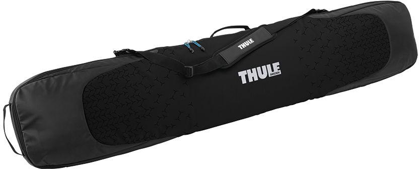 Чехол для сноуборда Thule RoundTrip Single SnowBoard, цвет: черный, для одного205301Прочная водонепроницаемая брезентовая ткань и утолщенная подкладка защищают переднюю и заднюю части доски.Мягкие рукава с затяжками натягиваются на края сноуборда для улучшенной защиты, а также защищают верхнюю и нижнюю одежду от острых краев сноуборда.Съемный мягкий наплечный ремень и удобно расположенные ручки позволяют легко переносить сумку.Внутренний карман на молнии для хранения запасной одежды и аксессуаров.Молнии можно закрыть на замок для защиты от кражи (замок продается отдельно).Подходит для сноуборда длиной до 167см.