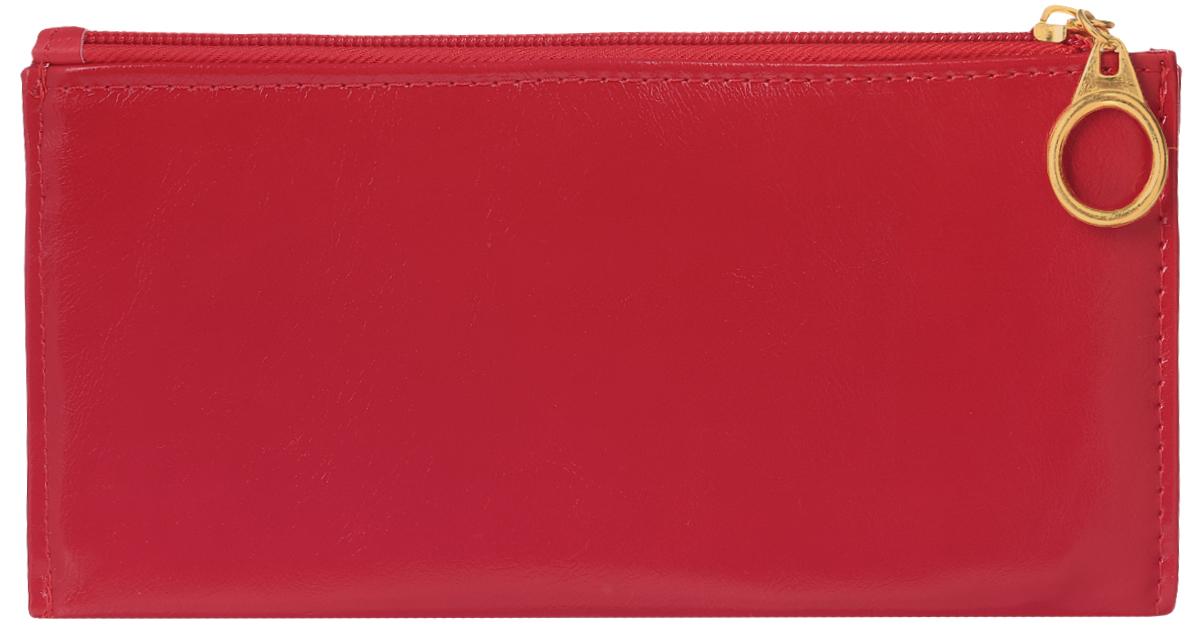 Кошелек женский Leighton, цвет: красный. 741495350нСтильный женский кошелек Leighton выполнен из искусственной кожи и закрывается на застежку-молнию. Подкладка кошелька изготовлена из полиэстера. Изделие содержит три отделения для купюр, восемь карманов для пластиковых карт, снаружи карман на молнии.