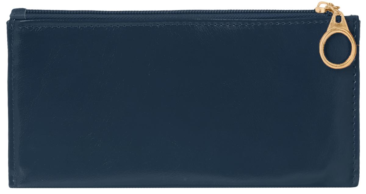 Кошелек женский Leighton, цвет: темно-синий. 7411-022_516Стильный женский кошелек Leighton выполнен из искусственной кожи и закрывается на застежку-молнию. Подкладка кошелька изготовлена из полиэстера. Изделие содержит три отделения для купюр, восемь карманов для пластиковых карт, снаружи карман на молнии.