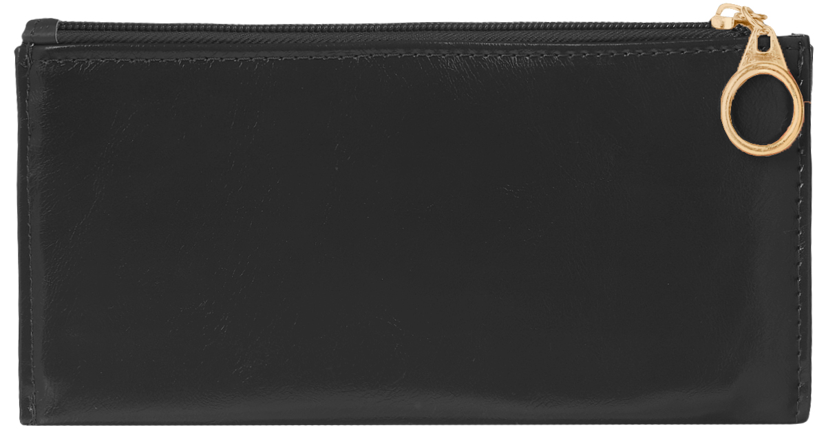 Кошелек женский Leighton, цвет: черный. 741495350нСтильный женский кошелек Leighton выполнен из искусственной кожи и закрывается на застежку-молнию. Подкладка кошелька изготовлена из полиэстера. Изделие содержит три отделения для купюр, восемь карманов для пластиковых карт, снаружи карман на молнии.