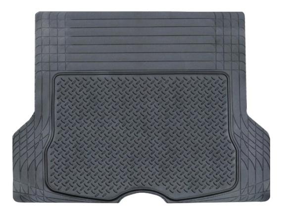 Коврик в салон автомобиля Airline, в багажник, универсальный, цвет: черный, 133 х 111 см19200Автомобильный коврик Airline предназначен для багажного отделения автомобиля и имеет универсальный размер, подходящий для установки в машине любой марки. Коврик, изготовленный из полимера, защищает салон автомобиля от загрязнений, а также препятствует впитыванию влаги и любых жидкостей. Изделие не подвержено влиянию температур и обладает морозостойкими свойствами (до -40C).