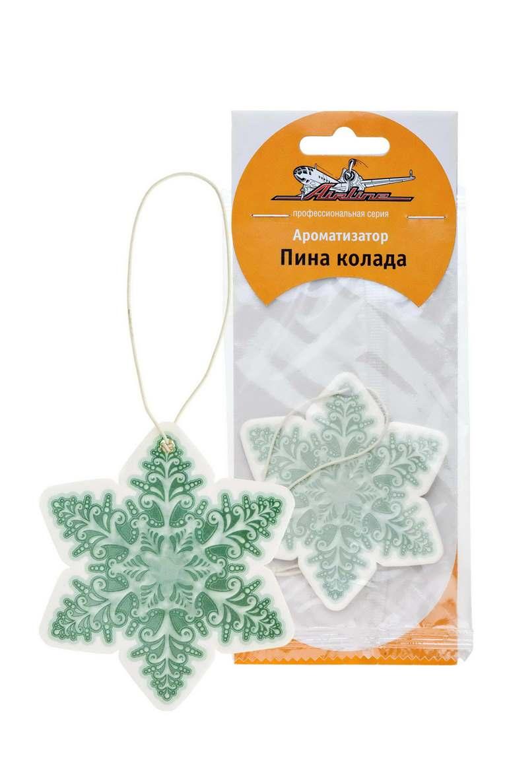 Ароматизатор автомобильный Airline Снежинка, подвесной, пина колада фруктовый чай пина колада 100 г
