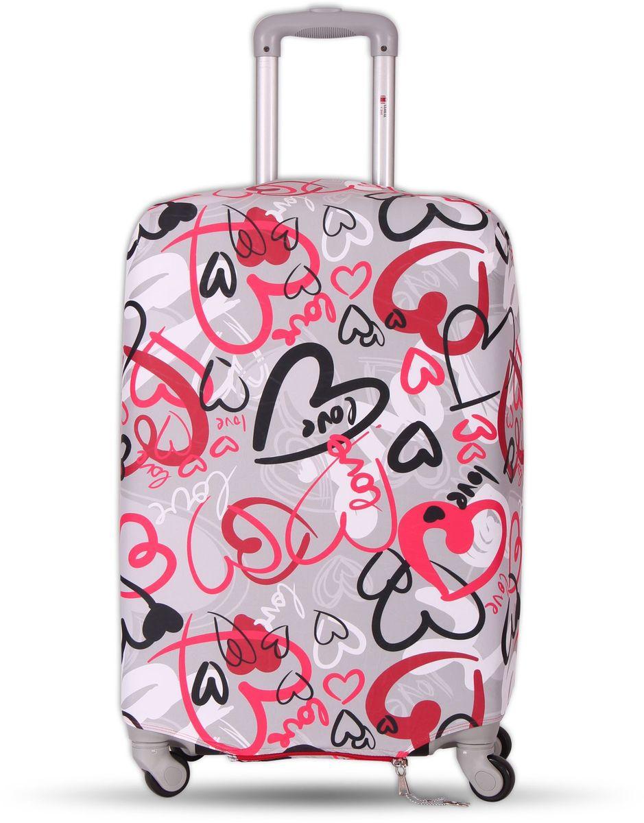 Чехол для чемодана Fancy Armor Travel Suit Eco. Аморе, размер M/L (52-65 см)FTS_ECO_007Чехол Fancy Armor Travel Suit Eco. Аморе предназначен для чемоданов высотой 52-65 см, выполнен из спандекса - легкого, эластичного и стойкого к разрыву материала, плотностью 240 г/см3. Универсальный чехол для большого чемодана защищает чемодан и вещи от грязи и повреждений, заменяет пленку в аэропорту и позволяет сэкономить время и деньги на упаковке багажа, а также поможет безошибочно отличить свой чемодан. Запатентованная выкройка обеспечивает идеальную посадку, а высокое качество пошива и используемых материалов гарантирует долгую службу чехла. Обработанные силиконовой резинкой вырезы специальной формы обеспечивают удобный доступ ко всем ручкам чемодана.