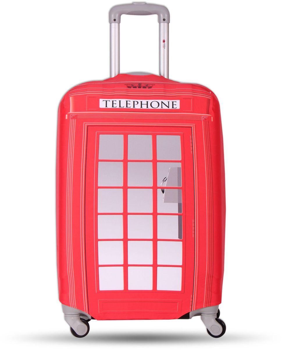 Чехол для чемодана Fancy Armor Travel Suit Eco. Телефон, размер M/L (52-65 см)FTS_ECO_021Чехол Fancy Armor Travel Suit Eco. Телефон предназначен для чемоданов высотой 52-65 см, выполнен из спандекса - легкого, эластичного и стойкого к разрыву материала, плотностью 240 г/см3. Универсальный чехол для большого чемодана защищает чемодан и вещи от грязи и повреждений, заменяет пленку в аэропорту и позволяет сэкономить время и деньги на упаковке багажа, а также поможет безошибочно отличить свой чемодан. Запатентованная выкройка обеспечивает идеальную посадку, а высокое качество пошива и используемых материалов гарантирует долгую службу чехла. Обработанные силиконовой резинкой вырезы специальной формы обеспечивают удобный доступ ко всем ручкам чемодана.