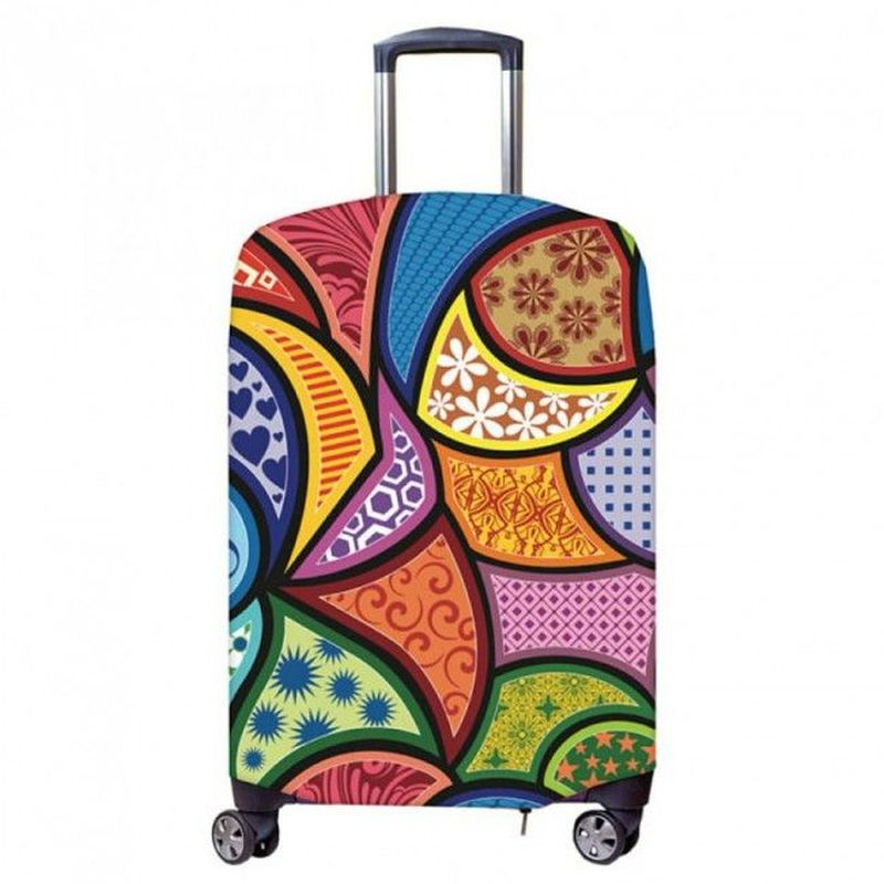 Чехол для чемодана Fancy Armor Travel Suit Eco. Калейдоскоп, размер XL (60-75 см)FTS_ECO_802Чехол размера XL предназначен для чемоданов высотой 65-75 см. Универсальный эластичный чехол для большого чемодана защищает чемодан и вещи от грязи и повреждений, заменяет пленку в аэропорту и позволяет сэкономить время и деньги на упаковке багажа, а также поможет безошибочно отличить свой чемодан.Запатентованная выкройка обеспечивает идеальную посадку, а высокое качество пошива и используемых материалов (ткань плотностью 240г/м2) гарантирует долгую службу чехла. Обработанные силиконовой резинкой вырезы специальной формы обеспечивают удобный доступ ко всем ручкам чемодана..