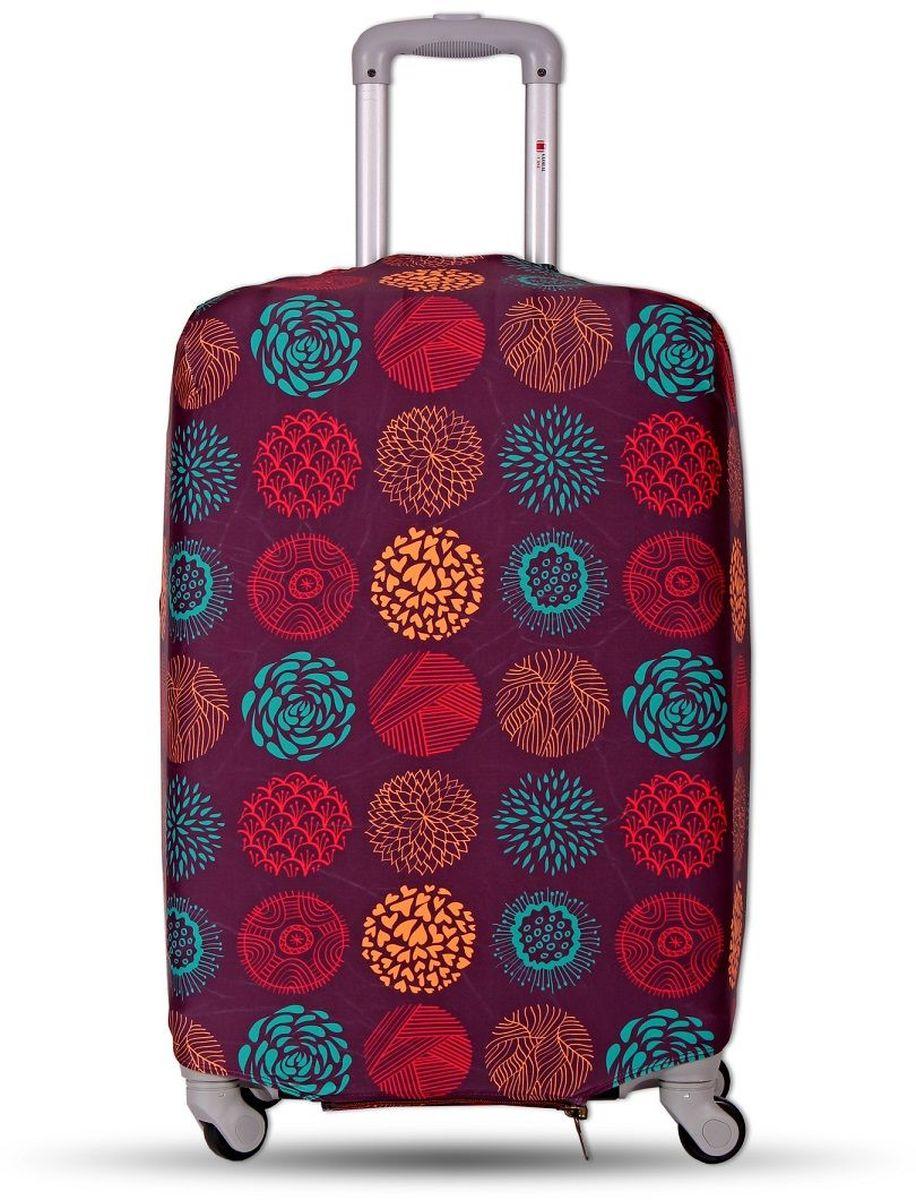 Чехол для чемодана Fancy Armor Travel Suit Eco. Круговорот, размер XL (65-75 см)FTS_ECO_812Чехол Fancy Armor Travel Suit Eco. Круговорот предназначен для чемоданов высотой 65-75 см, выполнен из спандекса - легкого, эластичного и стойкого к разрыву материала, плотностью 240 г/см3. Универсальный чехол для большого чемодана защищает чемодан и вещи от грязи и повреждений, заменяет пленку в аэропорту и позволяет сэкономить время и деньги на упаковке багажа, а также поможет безошибочно отличить свой чемодан. Запатентованная выкройка обеспечивает идеальную посадку, а высокое качество пошива и используемых материалов гарантирует долгую службу чехла. Обработанные силиконовой резинкой вырезы специальной формы обеспечивают удобный доступ ко всем ручкам чемодана.