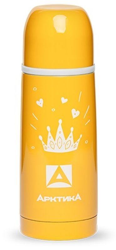 Термос Арктика, с узким горлом, цвет: желтый, 350 млP737830Термос Арктика с ярким и стильным дизайном отлично справляется с сохранением температуры внутри в течение 12 часов. Корпус полностью выполнен из высококачественной нержавеющей стали, а некоторые элементы - из пластика. Узкое горлышко наглухо закупоривается пробкой с термоизолятором, поэтому можно не бояться, что напиток прольется.Простота в использовании, надежность и безопасность - вот основные достоинства термоса. Удобная система наливания без полного откручивания пробки-крышки позволит насладиться горячим чаем или кофе в любом месте.Объем термоса: 350 мл.Диаметр горлышка: 3,9 см.