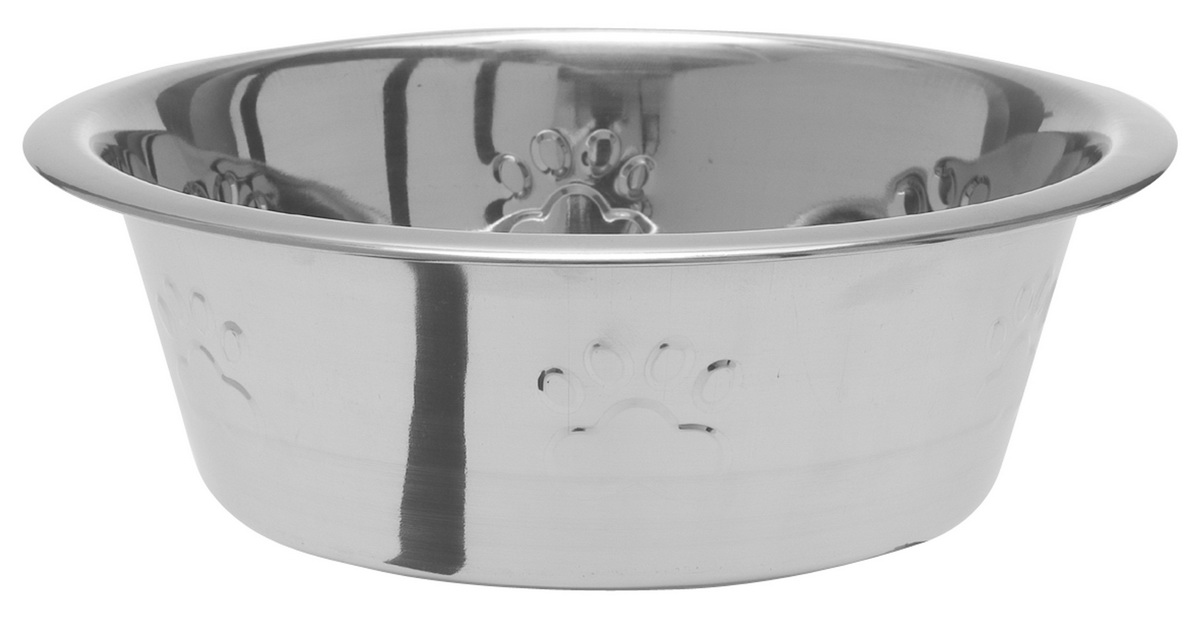 Миска для собак Dezzie Лапа, 473 мл0120710С приобретением миски DEZZIE владелец может быть спокоен за безопасность и хороший внешний вид любимой посуды своего питомца.Миска имеет антискользящие резиновые вставки.