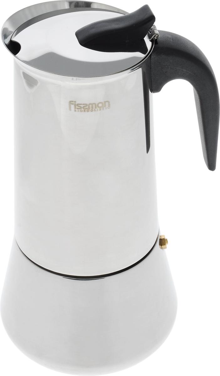 Кофеварка гейзерная Fissman, на 12 порций, 825 млVT-1520(SR)Гейзерная кофеварка Fissman рассчитана на приготовление 12 чашек напитка. Корпус кофеварки, выполненный из высококачественной нержавеющей стали, снаружи имеет полированную поверхность. Ручка сделана из термостойкого пластика. Кофеварка оснащена специальным предохранительным клапаном давления, а также безопасной и легкой в использовании системой открывания крышки. Кофеварка ставится прямо на конфорку. Подробная инструкция на русском языке представлена на коробке. Подходит для газовых, электрических и стеклокерамических плит, а также галогеновых конфорок.Диаметр (по верхнему краю): 9 см. Высота: 26 см.Диаметр основания: 12 см.