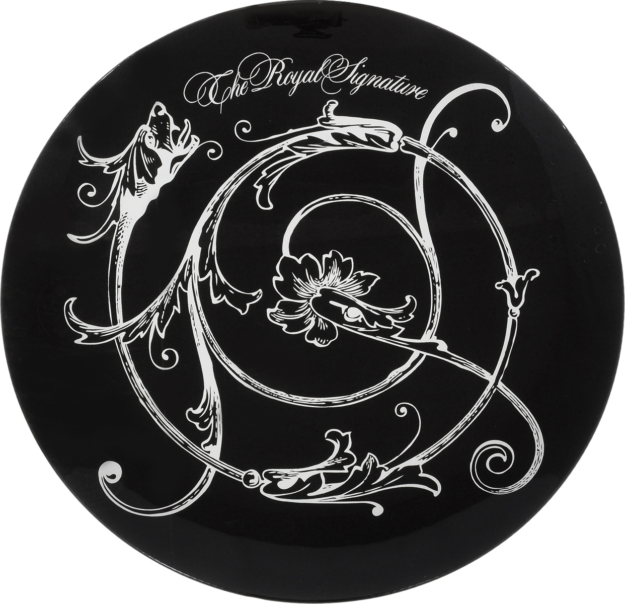 Блюдо Elan Gallery Vegas. Королевский вензель, диаметр 30 смVT-1520(SR)Декоративное блюдо Elan Gallery Vegas. Королевский вензель, изготовленное из стекла, прекрасно подойдет для тортов, пирожных, фруктов, суши-сетов, пиццы и блюд, приготовленных на гриле. Изделие, оформленное оригинальным рисунком, украсит сервировку вашего стола и подчеркнет прекрасный вкус хозяйки. Не рекомендуется применять абразивные моющиесредства. Не использовать в микроволновой печи. Диаметр блюда: 30 см.Высота блюда: 2 см.