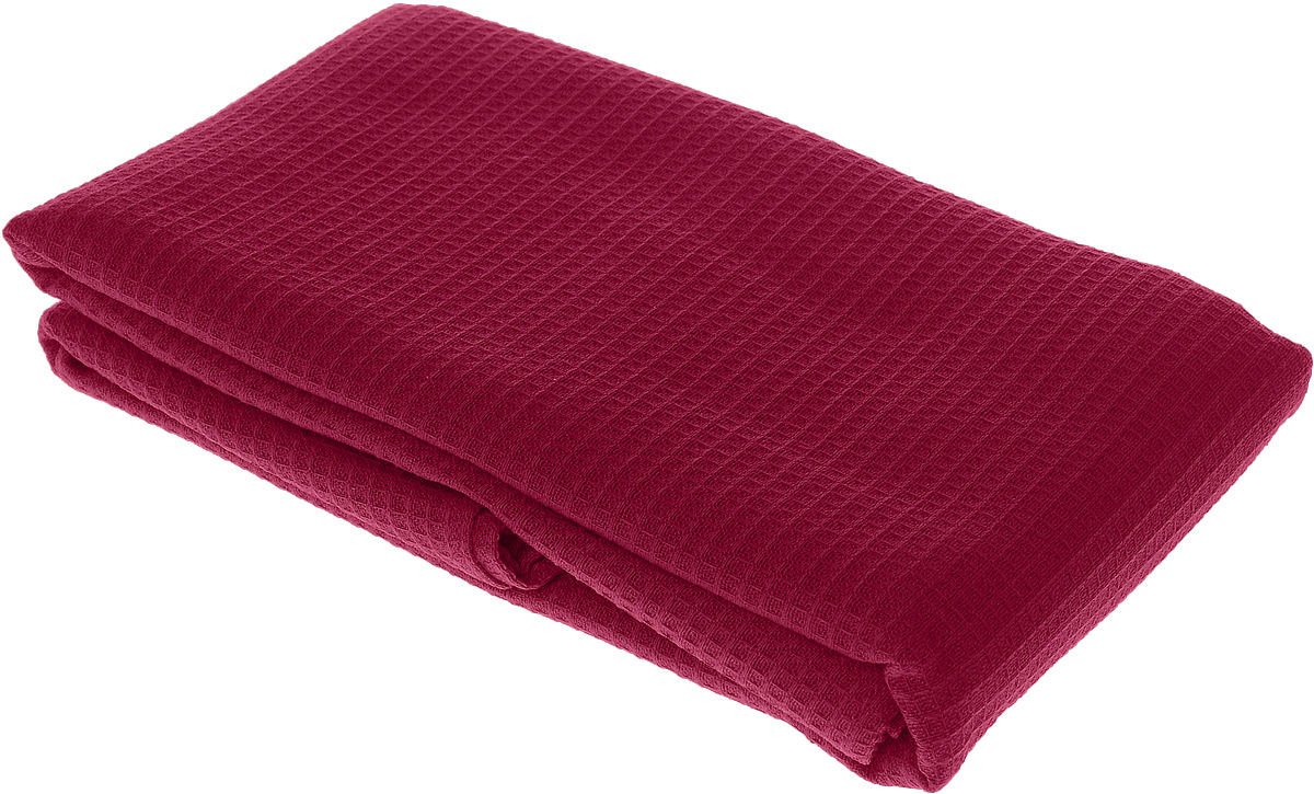 Полотенце-простыня для бани и сауны Банные штучки, цвет: малиновый, 80 х 150 см68/5/3Вафельное полотенце-простыня для бани и сауны Банные штучки изготовлено из натурального хлопка. В парилке можно лежать на нем, после душа вытираться, а во время отдыха использовать как удобную накидку. Такое полотенце-простыня идеально подойдет каждому любителю бани и сауны.