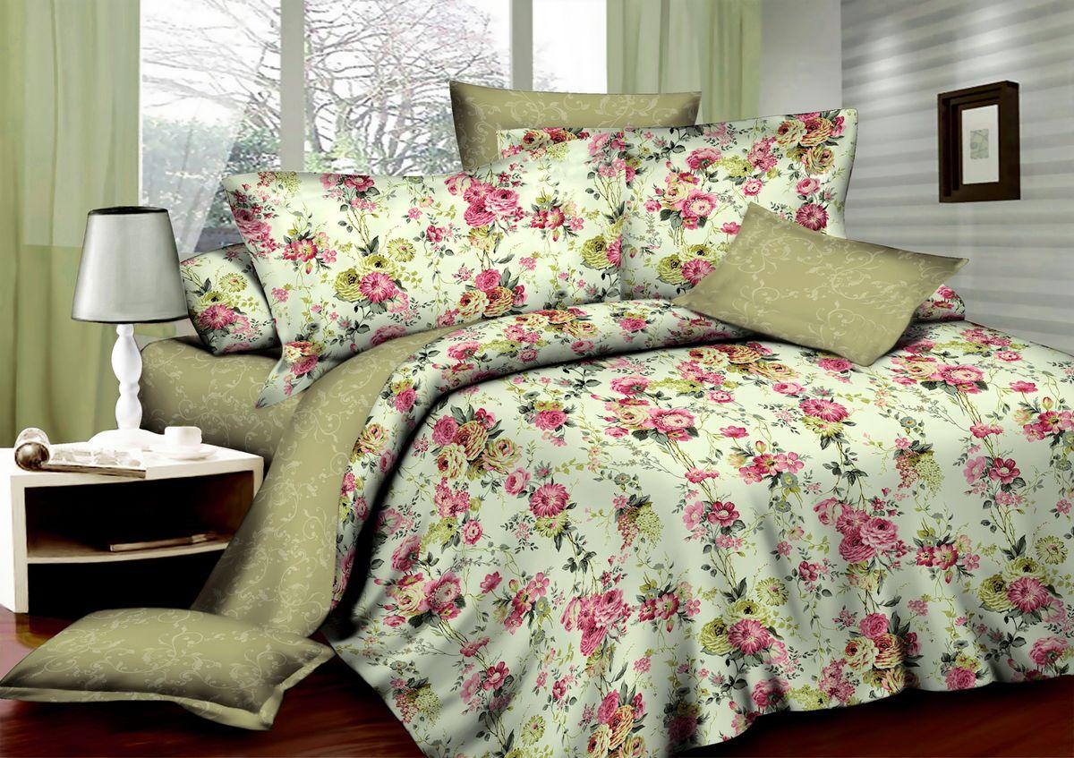 Комплект белья Amore Mio Provance, 1,5-спальный, наволочки 70x70, цвет: молочный, бежевый, розовыйPANTERA SPX-2RSКомплект постельного белья Amore Mio является экологически безопасным для всей семьи, так как выполнен из сатина (100% хлопок). Постельное белье оформлено оригинальным рисунком и имеет изысканный внешний вид. Сатин - это ткань сатинового (атласного) переплетения нитей. Имеет гладкую, шелковистую лицевую поверхность, на которой преобладают уточные нити (уток - горизонтально расположенные в тканом полотне нити). Сатин изготавливается из крученой хлопковой нити двойного плетения. Он чрезвычайно приятен на ощупь, не электризуется и не скользит по кровати. Сатин прекрасно сохраняет форму и не мнется, отлично пропускает воздух, что позволяет телу дышать и дарит здоровый и комфортный сон.Комплект состоит из пододеяльника, простыни и двух наволочек.