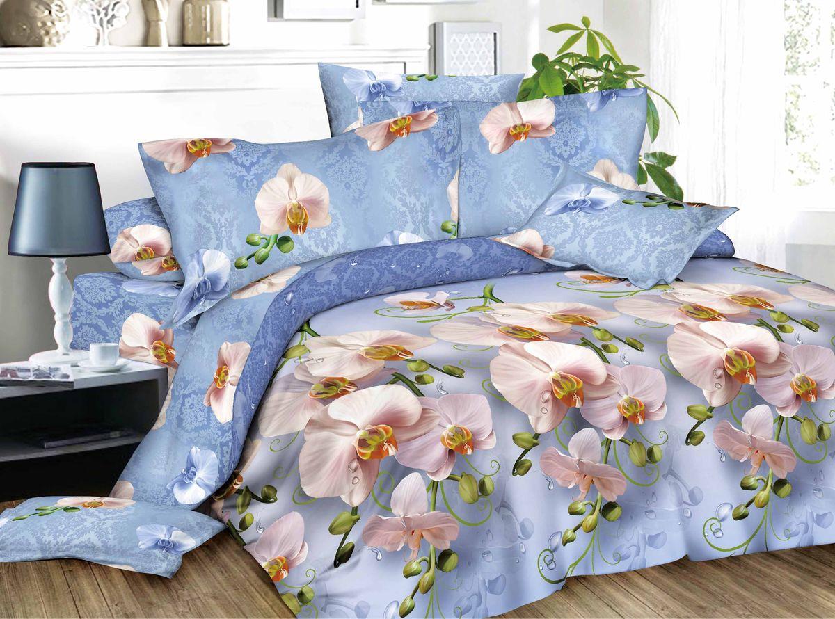 Комплект белья Amore Mio Alina, 1,5-спальный, наволочки 70x70, цвет: синий, розовый391602Комплект постельного белья Amore Mio является экологически безопасным для всей семьи, так как выполнен из сатина (100% хлопок). Постельное белье оформлено оригинальным рисунком и имеет изысканный внешний вид. Сатин - это ткань сатинового (атласного) переплетения нитей. Имеет гладкую, шелковистую лицевую поверхность, на которой преобладают уточные нити (уток - горизонтально расположенные в тканом полотне нити). Сатин изготавливается из крученой хлопковой нити двойного плетения. Он чрезвычайно приятен на ощупь, не электризуется и не скользит по кровати. Сатин прекрасно сохраняет форму и не мнется, отлично пропускает воздух, что позволяет телу дышать и дарит здоровый и комфортный сон.Комплект состоит из пододеяльника, простыни и двух наволочек.