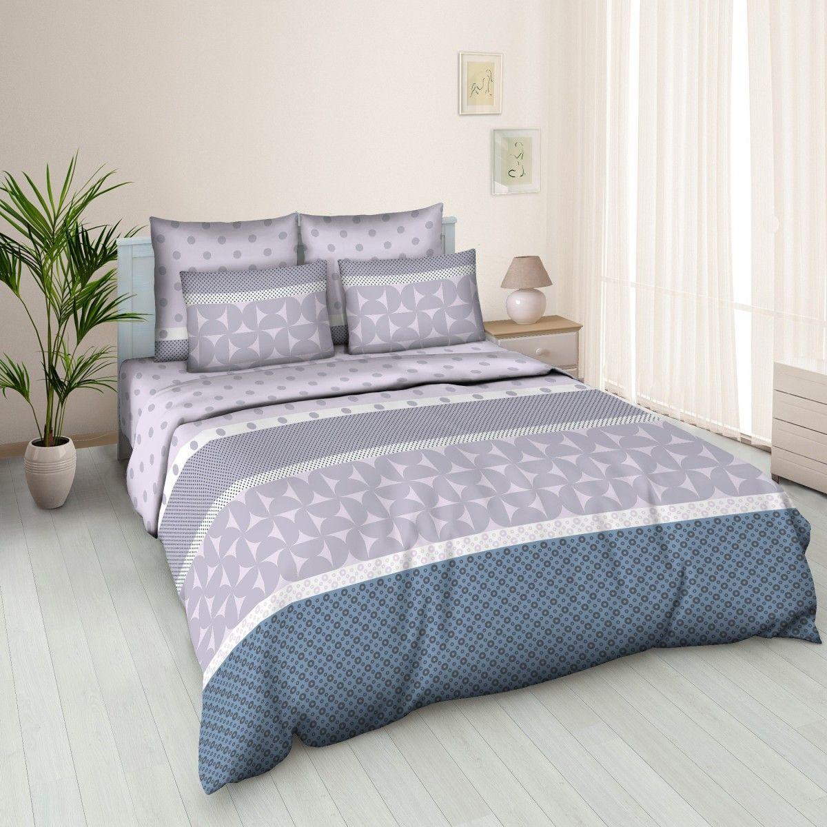 Комплект белья Amore Mio Solo, 2-спальный, наволочки 70x70, цвет: серый, синий391602Постельное белье из бязи практично и долговечно, а самое главное - это 100% хлопок! Материал великолепно отводит влагу, отлично пропускает воздух, не капризен в уходе, легко стирается и гладится. Новая коллекция Naturel 3-D дизайнов позволит выбрать постельное белье на любой вкус!