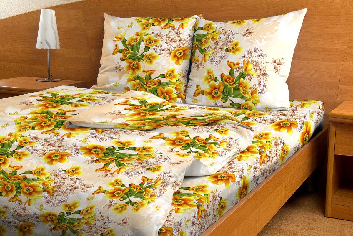 Комплект белья Amore Mio Vanilla, 1,5-спальный, наволочки 70x70, цвет: желтый, зеленый, бежевыйS03301004Комплект постельного белья Amore Mio является экологически безопасным для всей семьи, так как выполнен из бязи (100% хлопок). Постельное белье оформлено оригинальным рисунком и имеет изысканный внешний вид.Легкая, плотная, мягкая ткань отлично стирается, гладится, быстро сохнет. Комплект состоит из пододеяльника, простыни и двух наволочек.