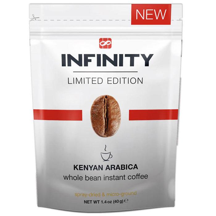 Infinity Limited Edition кофе растворимый, 40 г0120710Кофе идеально подойдет для того, чтобы приятно удивить ваших друзей. Сбалансированный букет ароматов заставит усомниться в том, что этот кофе растворимый: уникальная технология In-Fi позволила в неприкосновенности донести все нюансы и оттенки вкуса натуральной молотой Кенийской Арабики.