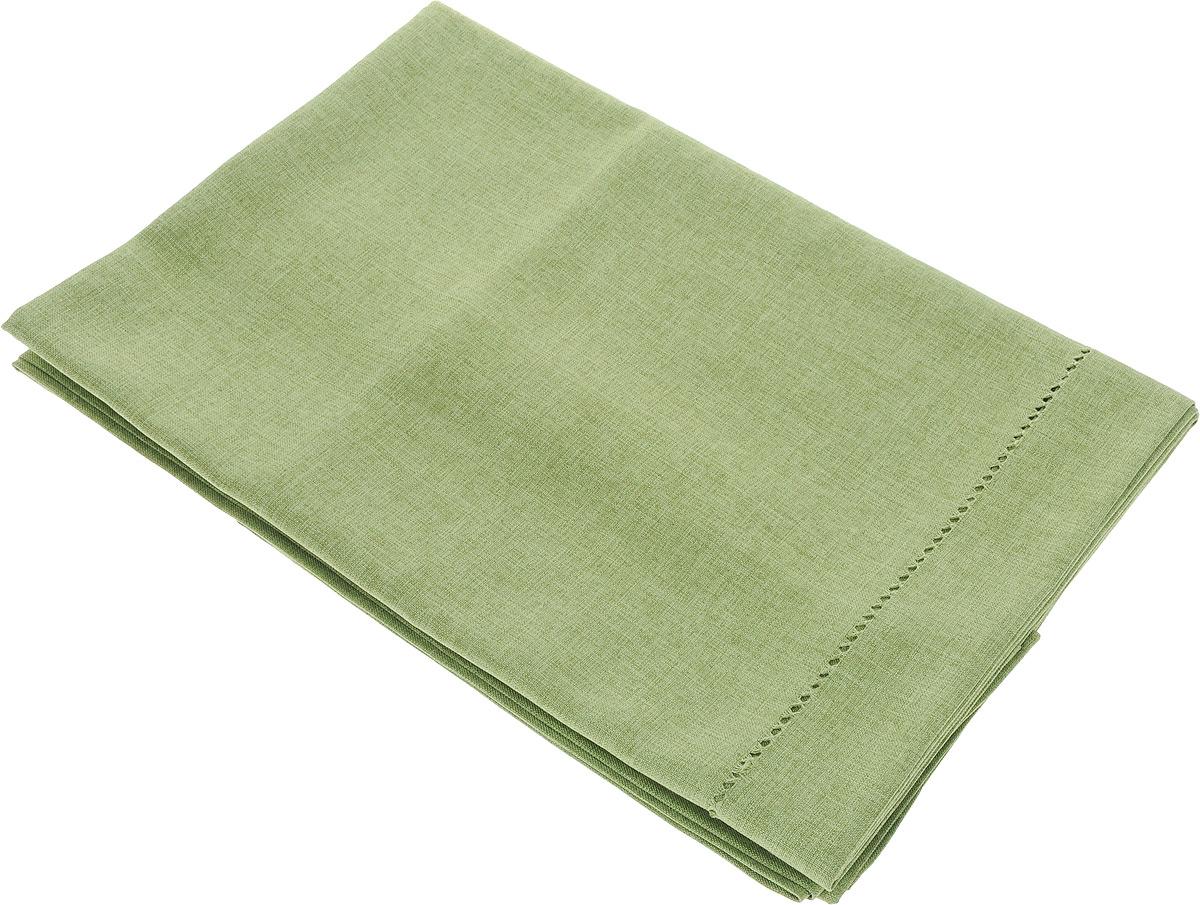Скатерть Schaefer, прямоугольная, цвет: зеленый, 130 x 220 см10.01.06.0144Скатерть Schaefer прямоугольной формы, выполненная из плотного полиэстера, станет изысканным украшением кухонного стола. Вдоль края изделие оформлено декоративной перфорацией. За текстилем из полиэстера очень легко ухаживать: он не мнется, не садится и быстро сохнет, легко стирается, более долговечен, чем текстиль из натуральных волокон.Использование такой скатерти сделает застолье торжественным, поднимет настроение гостей и приятно удивит их вашим изысканным вкусом. Также вы можете использовать эту скатерть для повседневной трапезы, превратив каждый прием пищи в волшебный праздник и веселье. Это текстильное изделие станет изысканным украшением вашего дома!
