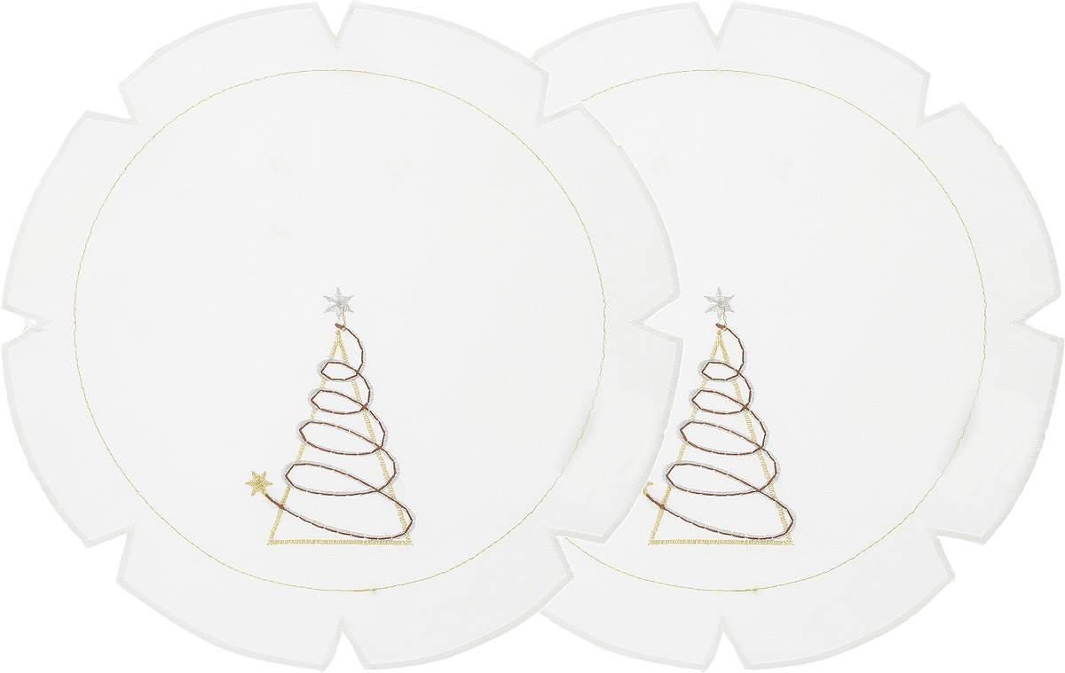 Набор салфеток Schaefer, диаметр 30 см, 2 шт. 07434-315-V2-B1501001187Набор Schaefer, состоящий из двух салфеток, выполнен из полиэстера и оформлен вышивкой. Дизайнерские идеи немецких художников компании Schaefer воплощаются в текстильных изделиях, которые сделают ваш дом красивее и уютнее и не останутся незамеченными вашими гостями. Дарите себе и близким красоту каждый день!Диаметр салфетки: 30 см.