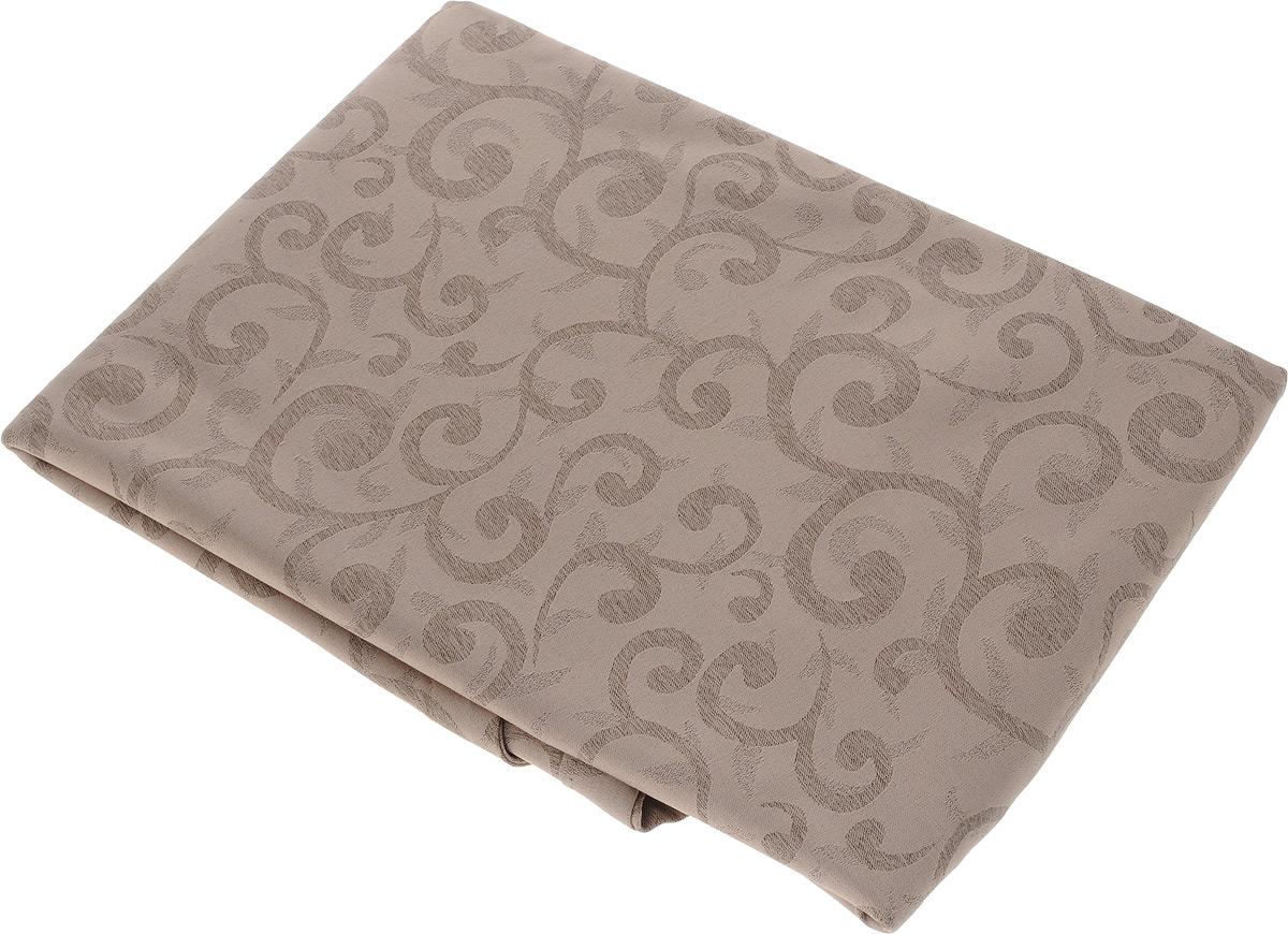 Скатерть Schaefer, круглая, цвет: бежевый, светло-коричневый, диаметр 170 см. 4161/Fb.0607725-211Круглая скатерть Schaefer, выполненная из полиэстера с оригинальным принтом, станет изысканным украшением стола. За текстилем из полиэстера очень легко ухаживать: он легко стирается, не мнется, не садится и быстро сохнет, более долговечен, чем текстиль из натуральных волокон.Изделие прекрасно послужит для ежедневного использования на кухне или в столовой, а также подойдет для торжественных случаев и семейных праздников. Стильный дизайн и качество исполнения сделают такую скатерть отличным приобретением для дома. Это текстильное изделие станет элегантным украшением интерьера!