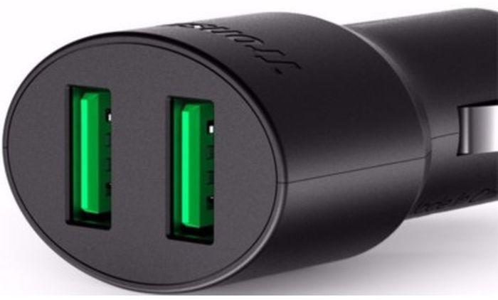 Автомобильное зарядное устройство Tronsmart CC2TF, с поддержкой технологии VoltIQCC2TFTronsmart CC2TF - это высококачественное автомобильное зарядное устройство. Данное ЗУ подключается к бортовой сети автомобиля с помощью разъема прикуривателя. Включенная в устройство защита позволит сохранить вам ваше устройство от различных поломок, связанных с непостоянством тока в сети. Также рассматриваемая модель обеспечивает быструю зарядку девайсов с поддержкой Qualcomm Quick Charge 3.0. Стоит также отметить, что данное зарядное устройство обладает высочайшей надежностью и увеличенным сроком службы, которые обеспечиваются благодаря использованию в его конструкции исключительно высококачественных элементов.