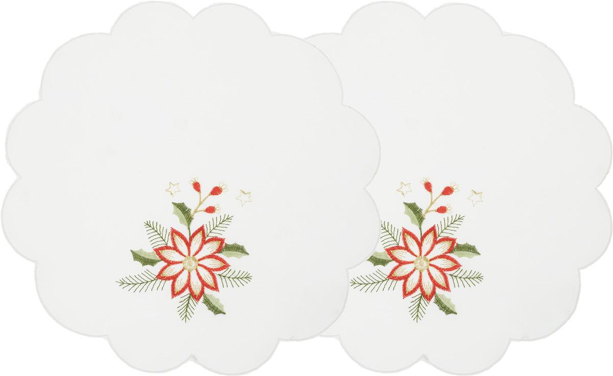 Набор салфеток Schaefer, цвет: молочный, диаметр 30 см, 2 шт504/CHAR005Набор Schaefer, состоящий из двух салфеток, выполнен из полиэстера и оформлен вышивкой. Дизайнерские идеи немецких художников компании Schaefer воплощаются в текстильных изделиях, которые сделают ваш дом красивее и уютнее и не останутся незамеченными вашими гостями. Дарите себе и близким красоту каждый день!Диаметр салфетки: 30 см.