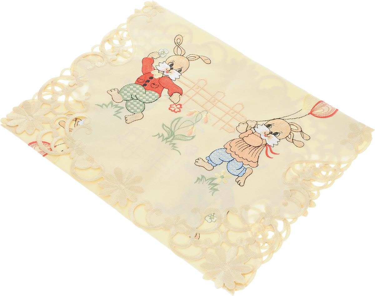 Дорожка для декорирования стола Schaefer, цвет: бежевый, 40 х 90 смCLP446Дорожка Schaefer, выполненная из полиэстера, станет украшением интерьера. Изделие оформлено вышивкой, по краям - вышивкой ришелье. Такую дорожку можно использовать для украшения комодов, тумб и столов. За текстилем из полиэстера очень легко ухаживать: он легко стирается, не мнется, не садится и быстро сохнет, более долговечен, чем текстиль из натуральных волокон.Такая дорожка изящно дополнит интерьер вашего дома.