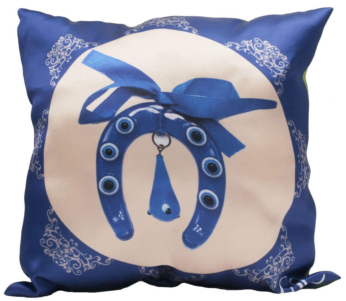 Подушка декоративная Главдор GL-519. Амулет от сглаза. Чтение Корана детьми, с рисунком, 30х30 смВетерок 2ГФДекоративные подушки c апликацией в салон автомобиля.