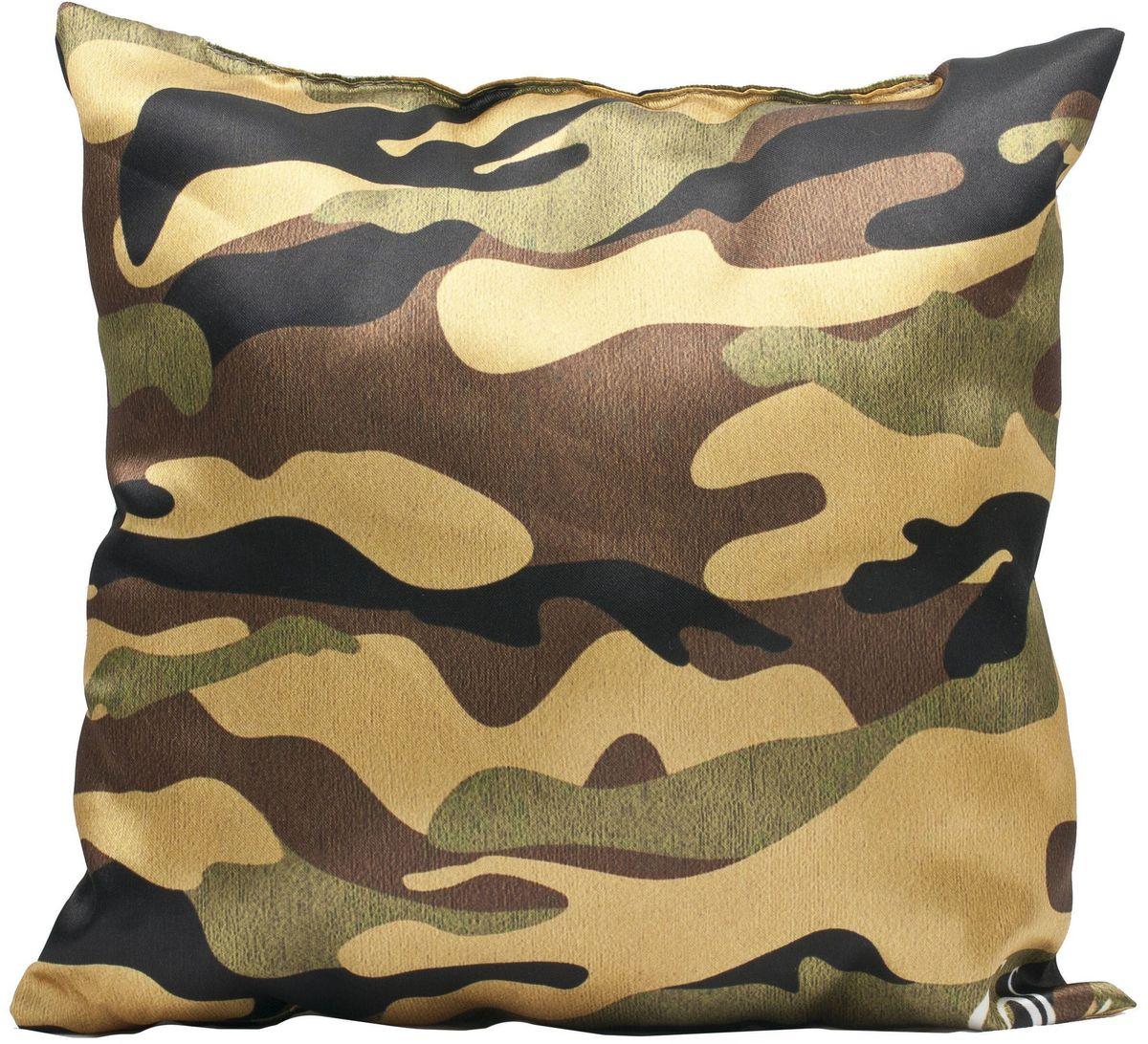 Подушка декоративная Главдор GL-527. Камуфляж, с рисунком, 30х30 см37071Декоративные подушки c апликацией в салон автомобиля.