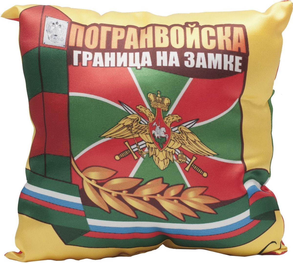 Подушка декоративная Главдор GL-528. Пограничные войска, с рисунком, 30х30 смCA-3505Декоративные подушки c апликацией в салон автомобиля.