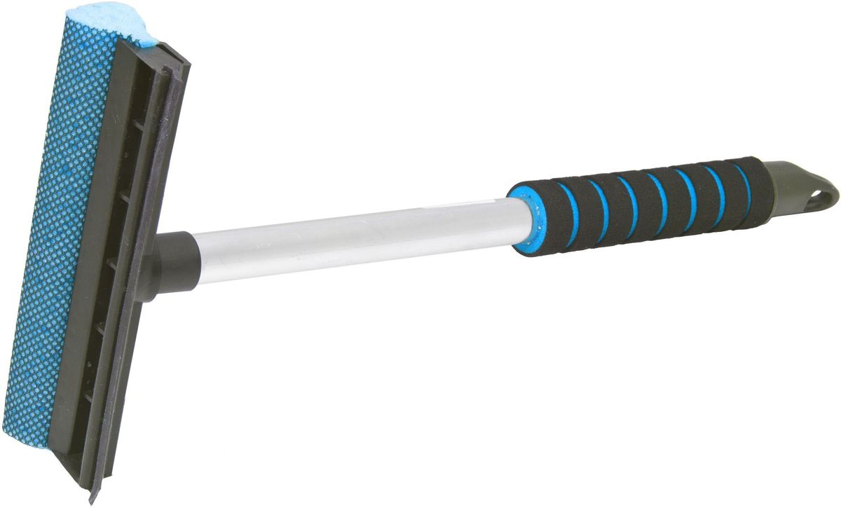 Водосгон Главдор GL-566, на алюминиевой ручке, длина: 43 см, цвет: голубой787502Водосгон на алюминиевой ручке сдержателем из пенополиэтилена. Снабжен резиновым лезвием и поролоновой губкой для эффективной очистки загрязненных поверхностей.