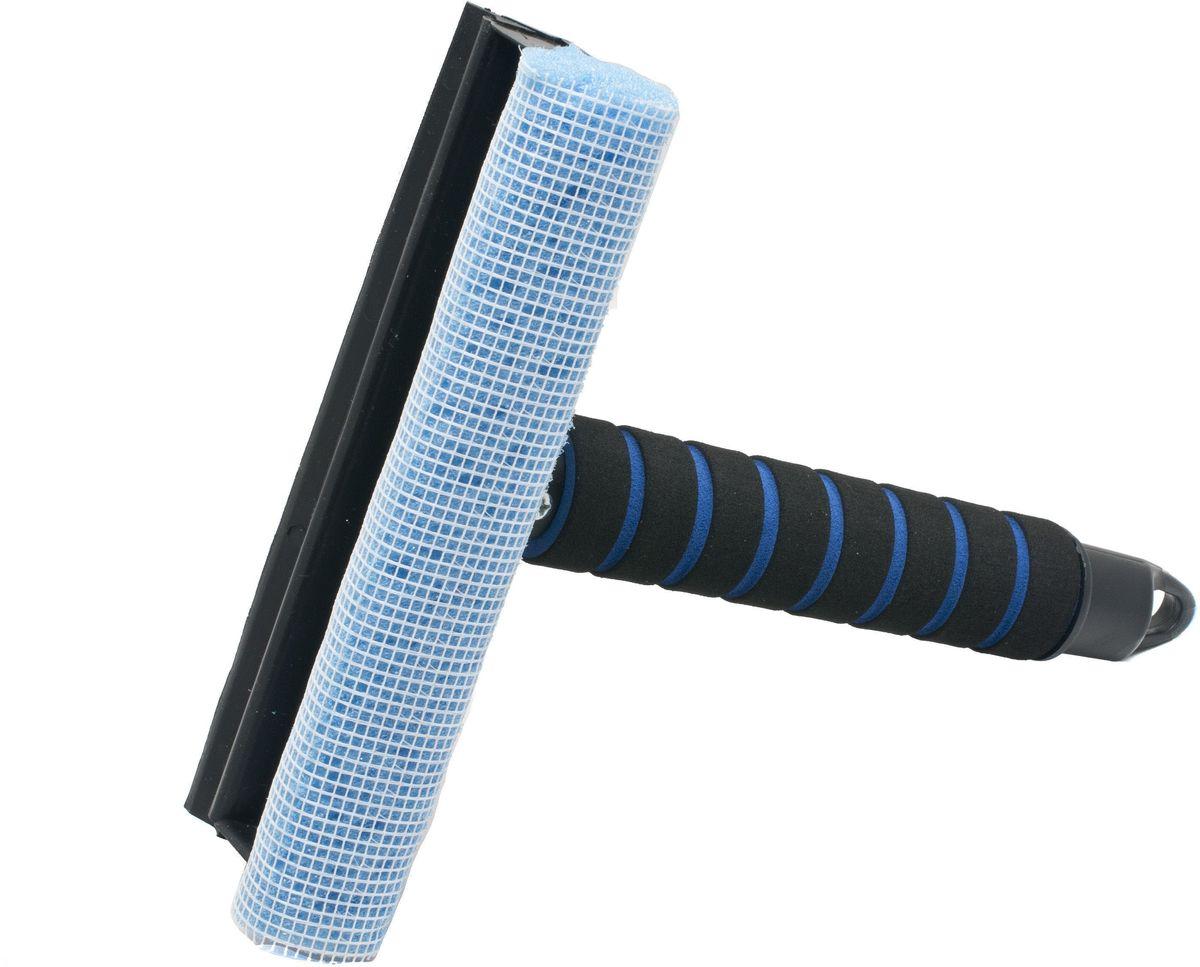 Водосгон Главдор GL-572, с мягкой ручкой, цвет: голубой19201Водосгон смягким держателем из пенополиэтилена. Снабжен резиновым лезвием и поролоновой губкой для эффективной очистки загрязненных поверхностей.