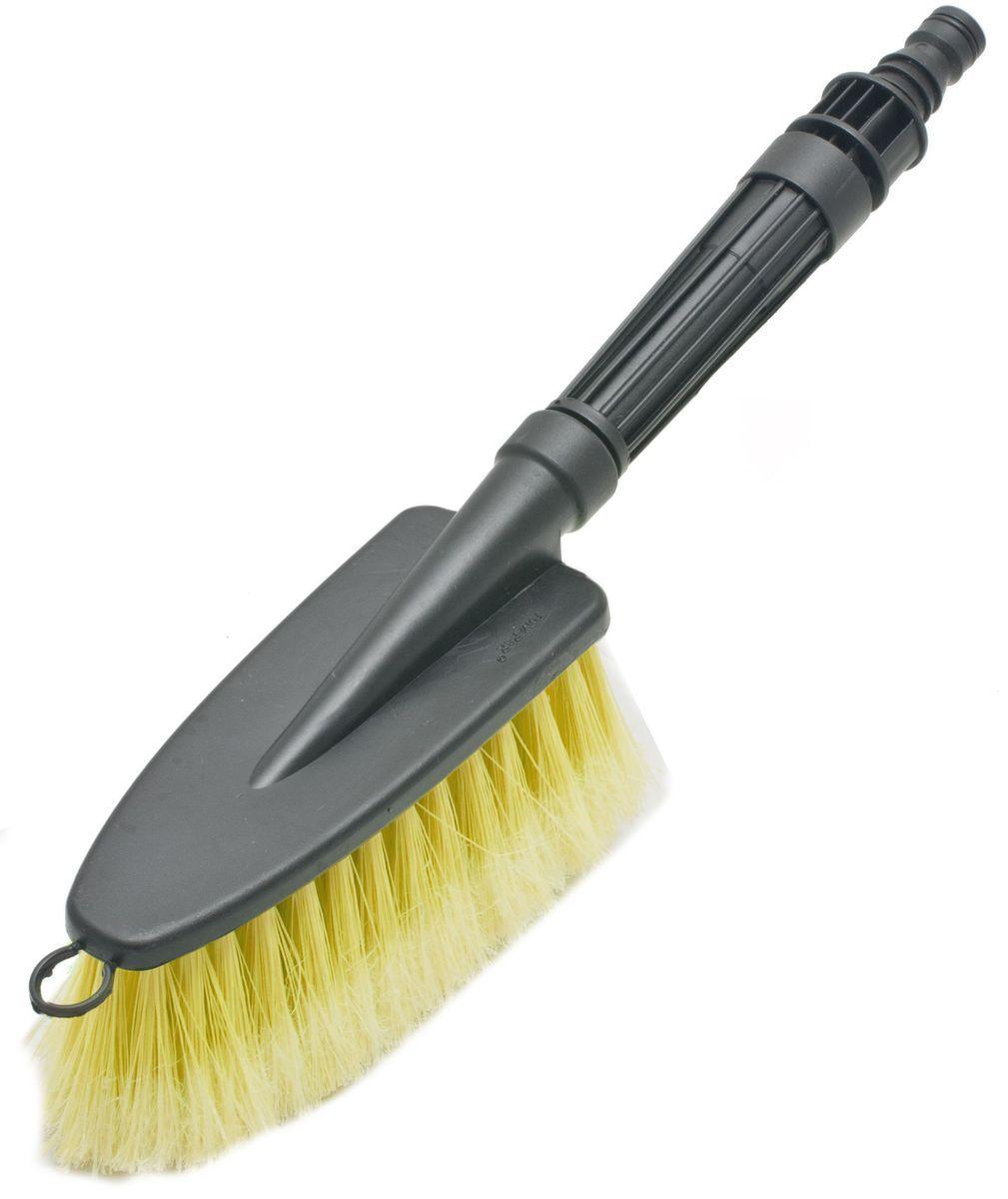 Щетка для мытья под шланг Главдор GL-582, с двойным клапаном, цвет: желтыйSATURN CANCARDЩетка для мытья с мягкой, распушенной щетиной, изготовлена из прочного пластика. Снабжена адаптером (насадкой) дляподключения к шлангу идвойным клапаном.