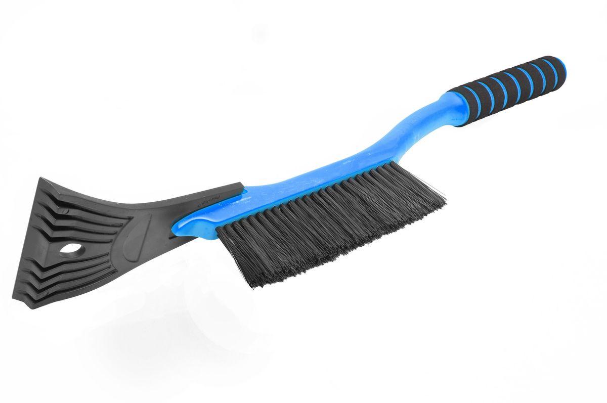 Щетка для снега Главдор GL-595, со скребком, длина: 54 см, поролоновая ручка, цвет: голубойRC-100BWCКомпактная щетка с упругой, однорядной, полимерной щетиной и скребком с разрыхлителем. Снабжена мягкой ручкой из пенополиэтилена.
