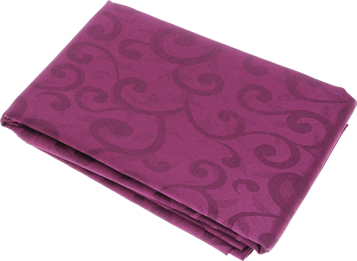Скатерть Schaefer, прямоугольная, цвет: сливовый, 140 x 170 см. 4161/Fb.0407725-211Прямоугольная скатерть Schaefer, выполненная из полиэстера с оригинальным рисунком, станет изысканным украшением кухонного стола. За текстилем из полиэстера очень легко ухаживать: он не мнется, не садится и быстро сохнет, легко стирается, более долговечен, чем текстиль из натуральных волокон.Использование такой скатерти сделает застолье торжественным, поднимет настроение гостей и приятно удивит их вашим изысканным вкусом. Также вы можете использовать эту скатерть для повседневной трапезы, превратив каждый прием пищи в волшебный праздник и веселье. Это текстильное изделие станет изысканным украшением вашего дома!
