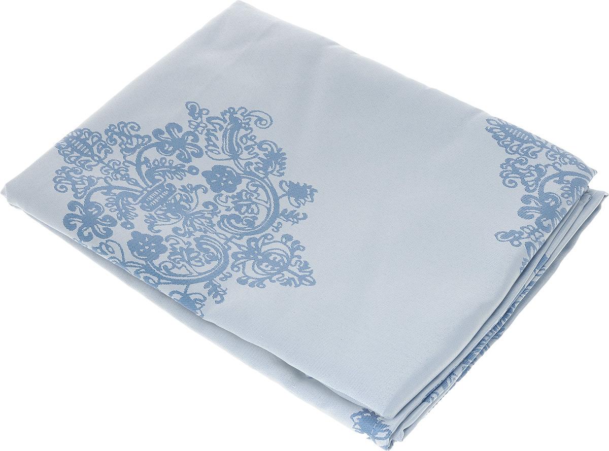 Скатерть Schaefer, квадратная, цвет: серебристо-голубой, синий, 150 х 150 см. 07811-4161со5269Квадратная скатерть Schaefer, выполненная из полиэстера с оригинальным рисунком, станет изысканным украшением кухонного стола. За текстилем из полиэстера очень легко ухаживать: он не мнется, не садится и быстро сохнет, легко стирается, более долговечен, чем текстиль из натуральных волокон.Использование такой скатерти сделает застолье торжественным, поднимет настроение гостей и приятно удивит их вашим изысканным вкусом. Также вы можете использовать эту скатерть для повседневной трапезы, превратив каждый прием пищи в волшебный праздник и веселье. Это текстильное изделие станет изысканным украшением вашего дома!