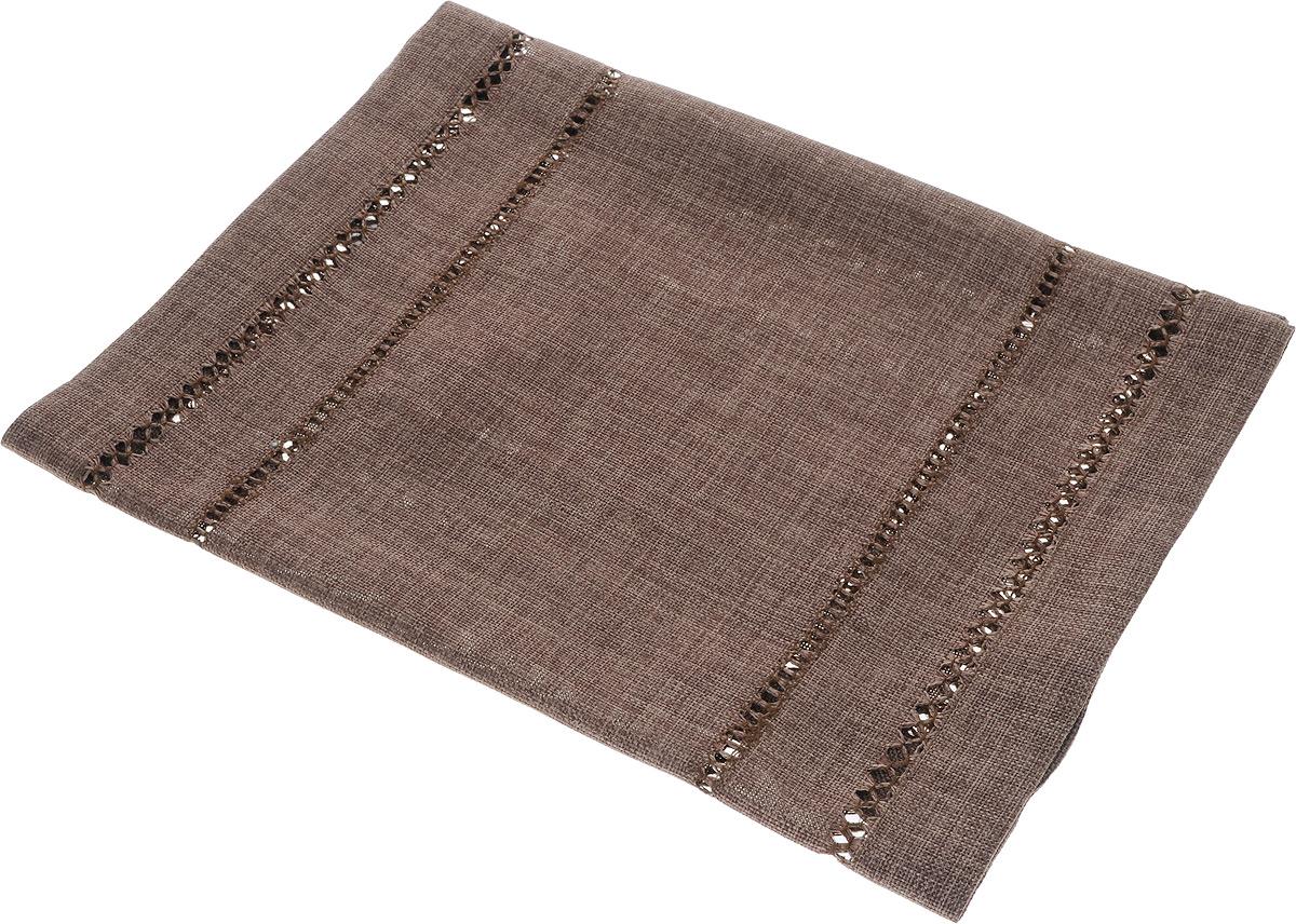 Дорожка для декорирования стола Schaefer, цвет: темно-коричневый, 40 х 90 смCLP446Дорожка Schaefer, выполненная из полиэстера, станет украшением интерьера. Изделие оформлено декоративной перфорацией. Такую дорожку можно использовать для украшения комодов, тумб и столов. За текстилем из полиэстера очень легко ухаживать: он легко стирается, не мнется, не садится и быстро сохнет, более долговечен, чем текстиль из натуральных волокон.Такая дорожка изящно дополнит интерьер вашего дома.