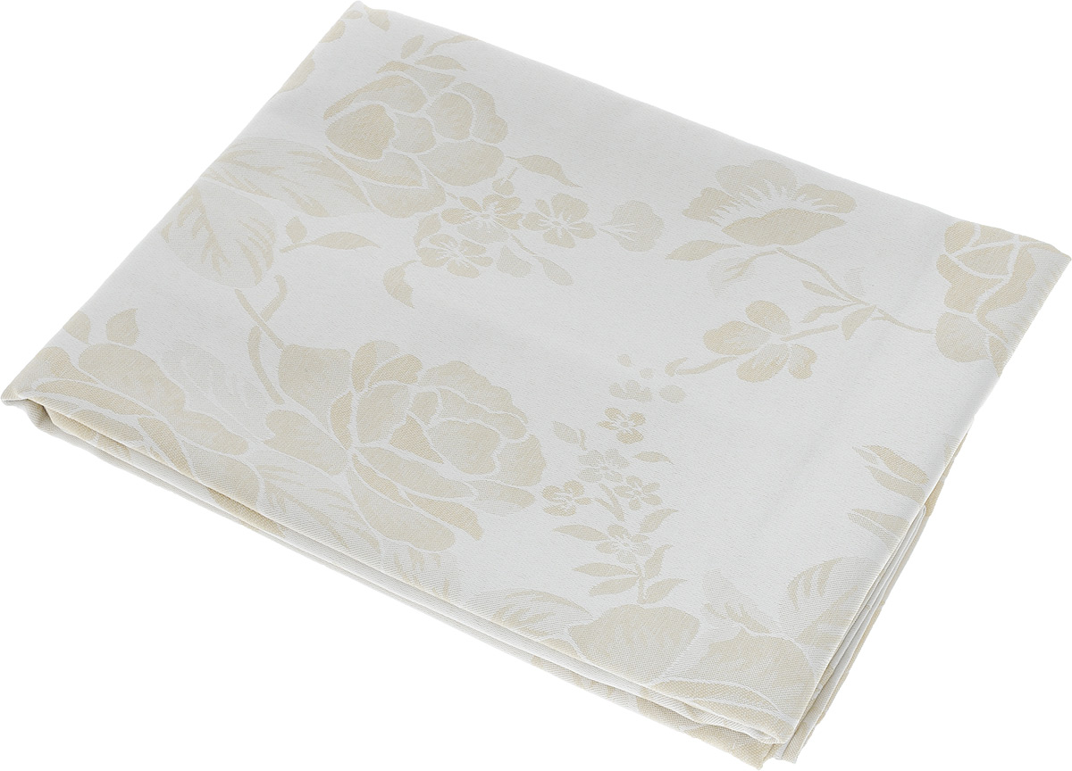 Скатерть Schaefer, прямоугольная, цвет: молочный, бежевый, 130 х 170 см. 07837-429CLP446Прямоугольная скатерть Schaefer, выполненная из полиэстера с оригинальным рисунком, станет изысканным украшением кухонного стола. За текстилем из полиэстера очень легко ухаживать: он не мнется, не садится и быстро сохнет, легко стирается, более долговечен, чем текстиль из натуральных волокон.Использование такой скатерти сделает застолье торжественным, поднимет настроение гостей и приятно удивит их вашим изысканным вкусом. Также вы можете использовать эту скатерть для повседневной трапезы, превратив каждый прием пищи в волшебный праздник и веселье. Это текстильное изделие станет изысканным украшением вашего дома!