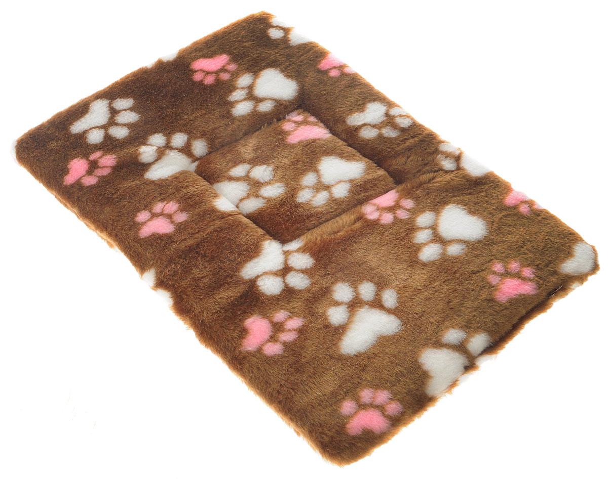 Лежак для животных Elite Valley Матрасик, цвет: коричневый, белый, розовый, 45 х 30 см. Л-8/20120710Лежак для животных Elite Valley Матрасик изготовлен из искусственного меха, наполнитель - поролон. Идеален для переносок и использования в автомобиле. Он станет излюбленным местом вашего питомца, подарит ему спокойный и комфортный сон. Высота матраса: 2,5 см.