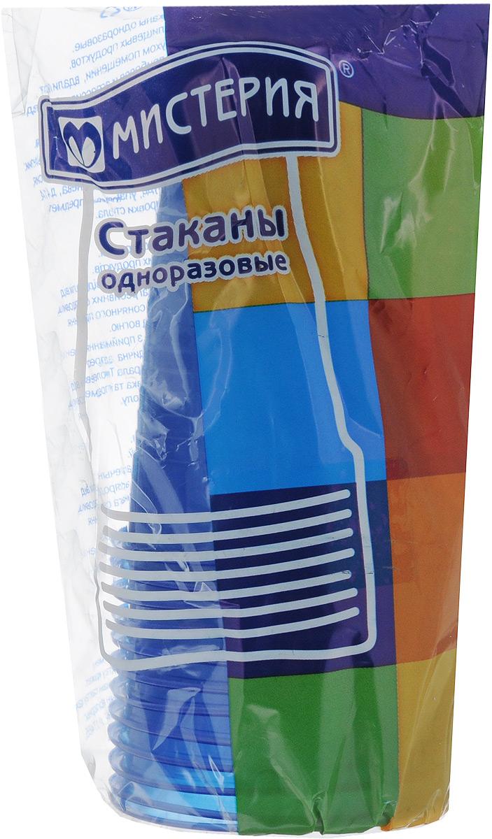 """Набор одноразовых стаканов """"Мистерия"""", цвет: синий, 200 мл, 12 шт"""
