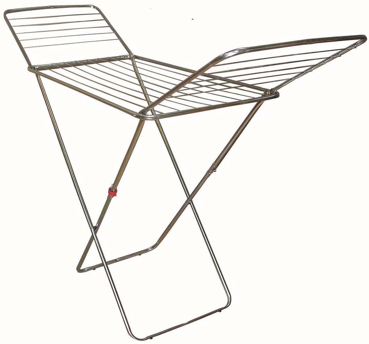 Сушилка для белья Евроголд ЕК Stabilo, напольная, 16 мGC204/30Сушилка для белья Евроголд 0503 ЕК Stabilo-напольная сушилка для белья проста и удобна в использовании, компактно складывается, экономя место в вашей квартире. Сушилку можно использовать на балконе или дома.Она оснащена складными створками для сушки одежды во всю длину, а также имеет специальные пластиковые крепления в основе стоек, которые не царапают пол. Полезная длина сушильного полотна 16м.Вакуумная упаковка.