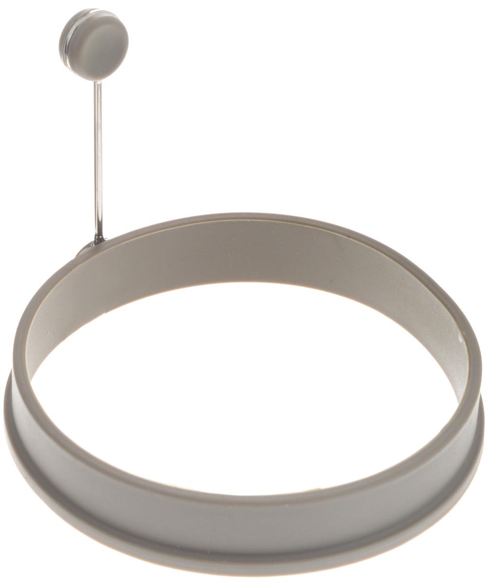 Форма для яичницы Gipfel Eco, цвет: серый, диаметр 10,5 см2815Форма Gipfel Eco выполнена из силикона и предназначена для приготовления яичницы, выпекания блинов и многого другого. Необходимо просто залить приготавливаемую массу внутрь формочки, расположенной на сковородке, и подождать, пока блюдо не дойдет до нужной кондиции.Форма оснащена металлической ручкой с силиконовой вставкой, что облегчит снятие изделия со сковороды и предотвратит появление ожогов. Можно мыть в посудомоечной машине.Размер формы: 10,5 х 10,5 х 2 см.Длина ручки: 8 см.